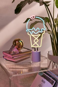 Sunnylife Ice Cream Neon Sign Table Lamp | Urban Outfitters
