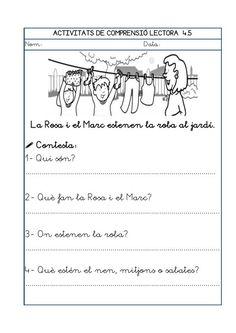 Dori dos 1112_mt006_r1_comprensio_lectora_4 Valencia, Trip Planning, Teaching, School, Texts, Reading, Reading Comprehension, Reading Comprehension, Schools