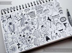 sketchbook page | flora chang