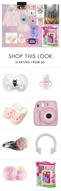 """Untitled #9"" by queenzoeybelle ❤ liked on Polyvore featuring Hello Kitty, Fujifilm, Nintendo, Eos and Mega Bloks"