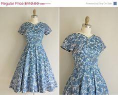 SHOP SALE... vintage 1950s dress / 50s full by simplicityisbliss