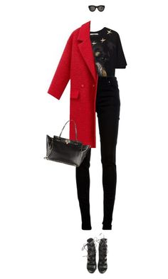 """""""Untitled #2793"""" by mitchelcrandell on Polyvore featuring Givenchy, dVb Victoria Beckham, Balmain and CÉLINE"""