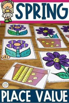 Students working on or 3 digit place value? This place value activity has a fun spring theme and is perf Place Value Activities, Hands On Activities, Kindergarten Activities, Classroom Activities, Classroom Ideas, Easter Activities, Spring Activities, First Grade Math, Second Grade