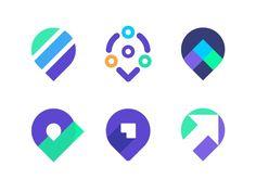 Pin logo exploration | Digital marketing company by Vadim Carazan
