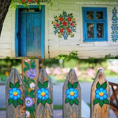 So in love with pictures from this enchanted town in Poland called Zalipie, the painted village. Polish Folk Art, Arte Floral, My Heritage, House Painting, Garden Art, Crafty, Inspiration, Beautiful, Design
