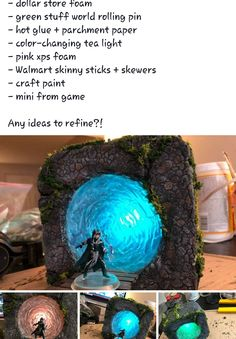 I need to make a stargate with this technique Donjons Et Dragons, Dungeons And Dragons, Tabletop Rpg, Tabletop Games, D Craft, Dragon Crafts, Wargaming Terrain, Dnd Mini, Dnd Characters