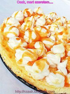 Csak, mert szeretem... kreatív gasztroblog: RÁKÓCZI TÚRÓS TORTA Hungarian Desserts, Sweets Cake, Winter Food, Camembert Cheese, Macaroni And Cheese, Fondant, Food And Drink, Pie, Yummy Food