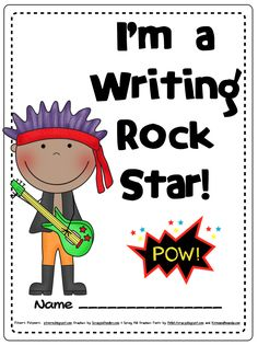 Rock Star Themed Writing Notebook for SRSD