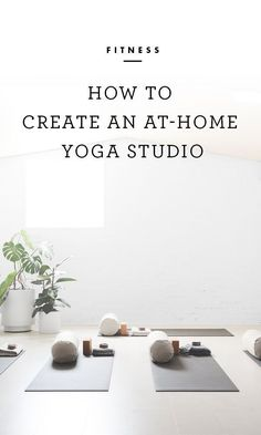 A great yoga session can do wonders for the body and soul. It can energize and invigorate or relax and soothe. Taking a class at a studio is ideal for the instruction and atmosphere, but that might. Home Yoga Room, Yoga Studio Home, Yoga Studio Design, Pilates Studio, Yoga At Home, Yoga Studio Interior, Yoga Room Design, Yoga Studio Decor, Zen Room