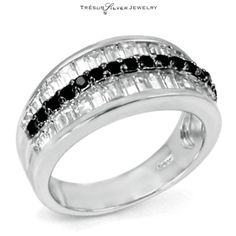 New Fashion Brilliant Cut Birthstone Wedding Sterling Silver Clear Baguette Cz Fashion Ring Fine Jewelry