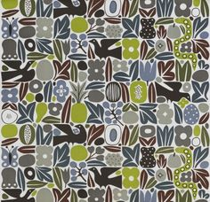 Eden by Alexander Girard (American), screen print on cotton twill, 1966 Textile Fabrics, Textile Patterns, Textile Design, Fabric Design, Print Patterns, Pattern Design, Alexander Girard, Cincinnati Art, Fabric Rug