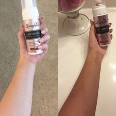 Thank you for sharing this before and after! Wearing our 2 hour express mousse in dark by lovingtanofficial Safe Tanning, Best Tanning Lotion, Tanning Cream, Beauty Skin, Health And Beauty, Natural Tanning Tips, Spray Tan Tips, Best Self Tanner, Short Curly Hair