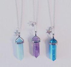 57 Ideas For Hair Purple Grunge Pastel Goth Bff Necklaces, Best Friend Necklaces, Friend Jewelry, Cute Necklace, Bff Bracelets, Ring Bracelet, Nu Goth, Crystal Jewelry, Crystal Necklace