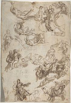 Paolo Veronese (Paolo Caliari): Studies for The Allegories of Love (1975.150) | Heilbrunn Timeline of Art History | The Metropolitan Museum of Art