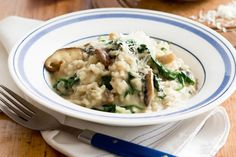 Add this tasty mushroom and spinach risotto to your repertoire of meals.