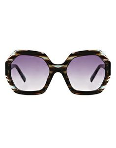 Karl Largerfeld Hexagonal Sunglasses