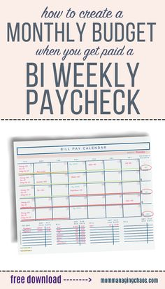 Struggling to budget your bi weekly paychecks and pay monthly bills? In this post I'll show you How to Budget Monthly Bills on a Bi weekly Paycheck. Learn how to create a monthly budget that works with your bi paychecks and even find ways to say money in the process. Monthly Budget | Bi Weekly Savings Plan Low Income| Money Saving Tips | Bi Weekly Budget Budget Spreadsheet, Budget Binder, Monthly Budget, Budget Planner, Ways To Save Money, Money Tips, Money Saving Tips, Budgeting Finances, Budgeting Tips
