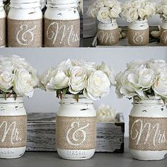 Planning a rustic summer wedding? Then you will love these decorative mason jars. #‪ link in profile! #‎love‬ ‪#‎shoplocal‬ #wedding #sayido #rusticwedding #soontobemrs #mrs #mr #weddingseason #romantic #bridal #