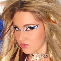 Cowgirls Blue & Silver Star Xotic Eyes - These Cowgirl eyes have blue…