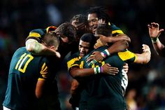 The Baby Boks celebrating their win over the Baby Blacks South African Rugby, Cheetahs, Lions, Shark, Wrestling, Passion, Celebrities, Sports, Baby