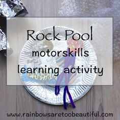 Use motor skills and imagination in this rock pool craft activity.