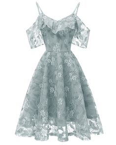 Lace Dress Solid Color Elegant A-Line Dress, Grey Blue / can find Lace dresses and more on our website.Lace Dress Solid Color Elegant A-Line Dress, Grey Blue / Women's Dresses, Elegant Dresses, Cute Dresses, Beautiful Dresses, Fashion Dresses, Bridesmaid Dresses, Bridesmaid Color, Homecoming Dresses, Pretty Dresses For Women