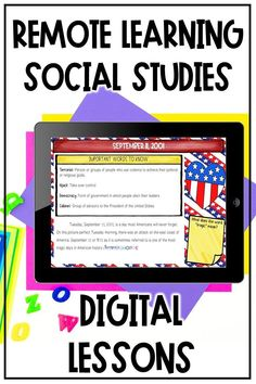 Teach your middle school students about September 11th with this digital activity for distance learning.  Students learn about the events of September 11th, the events that preceded it, and its aftermath using a digital reading activity on Google slides.  This digital social studies resource is easy to use for remote teaching and learning in 6th, 7th, 8th, and 9th grade social studies!  #socialstudies #middleschool #distancelearning 7th Grade Classroom, Middle School Classroom, Elementary Science, Upper Elementary, Student Learning, Fun Learning, Student Information, Social Studies Resources, Learning Process