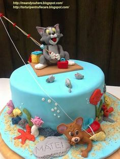 Tom and Jerry Tom And Jerry, Birthday Cakes, Desserts, Food, Meal, Anniversary Cakes, Deserts, Essen, Hoods