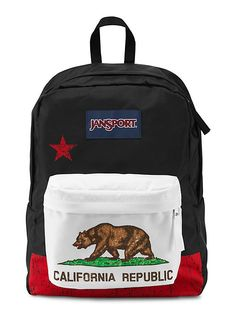 The new JanSport SuperBreak Backpack in Red New California Republic.