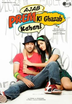 Ajab Prem Ki Ghazab Kahani is a 2009 Bollywood romantic comedy film with Ranbir Kapoor and Katrina Kaif in lead roles. It is a story of a young man who is willing to sacrifice his own love to insure the happiness of his dream girl.