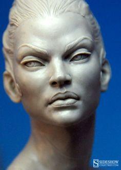 Queen of the Dead portrait sculpt work in progress by Mark Newman