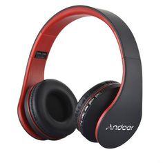 Le Casque audio Andoer LH-811 combine le lecteur Bluetooth, le lecteur de  carte MP3 et la radio FM, et prend en charge la fonction mains libres |  Pinterest ...