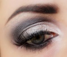 Switch up your routine and wear this gorgeous green eye makeup to work today. Makeup For Green Eyes, White Makeup, Eye Makeup, Hair Makeup, Beautiful Eyes, Amazing Eyes, Makeup Obsession, War Paint, Woman Painting
