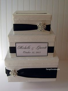 Wedding Gift Box Card Box Money Holder   by LaceyClaireDesigns, $105.00