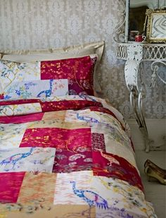 Love this Oriental patchwork bedroom duvet - House of Fraser. Home Channel, Life Tv, House Of Fraser, Hgtv, Duvet, Oriental, Home And Garden, Quilts, Traditional