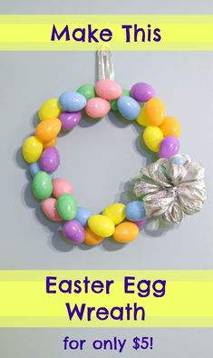Make An Easter Egg Wreath for $5 {Dollar Tree Crafting} |