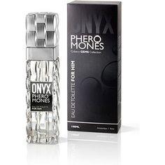 ONYX PHEROMONES EAU THE TOILETTE FOR HIM 100 ML  Onyx Perfume de Feromonas es irresistible para el sexo opuesto gracias a su excitante aroma masculino inspirado en el efecto natural de las feromonas. Para una tentación definitiva.  Esta llamativa Eau de Toilette contiene una equilibrada combinación de ingredientes que tienen el mismo efecto seductor que las feronomonas. Tiene un toque fresco y masculino que estimula el deseo femenino hacia el encanto masculino.