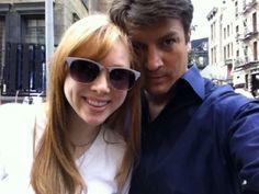 Nathan Fillion with TV daughter Molly Quinn