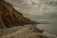 Zingst - Fischland Darß - Steilküste bei Ahrenshoop wurde in Deutschland, Zingst aufgenommen und hat folgende Stichwörter: Natur, Strand, Halbinsel.