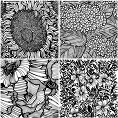 Rubber Texture, Floral Texture, Printable Adult Coloring Pages, Zentangle Drawings, Tiles Texture, Polymer Clay Crafts, Beautiful Textures, Mark Making, Ceramic Clay