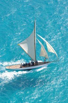 Sailing on clear blue water. Yacht Boat, Sail Away, Set Sail, Tall Ships, Water Crafts, Canoe, Sailing Ships, Sailing Yachts, Places To See