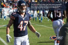 The Bears defense made a big stop when Chris Conte batted down Matthew Stafford's pass at the line of scrimmage on the fourth-and-one at the Chicago 31