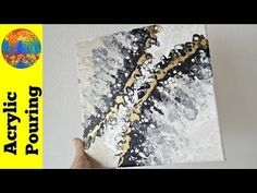 Black, white and gold collaboration YT challenge (DebyAtAcrylicPouring) - YouTube