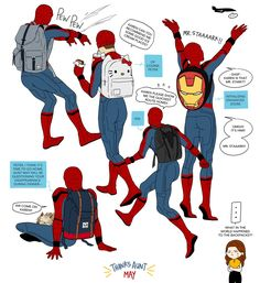Haha Aunt May, and his backpack