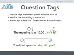 Grammar Question Tags