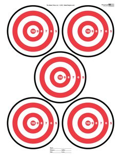 Five Bulls Eye shooting gun Target