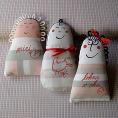 Panenky-kuželky ... DĚCKA Textiles, New Toys, Doll Toys, My Works, Barbie, Pillows, Christmas Ornaments, Sewing, Holiday Decor