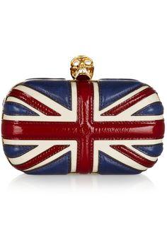 ALEXANDER MCQUEEN  Britannia leather box clutch