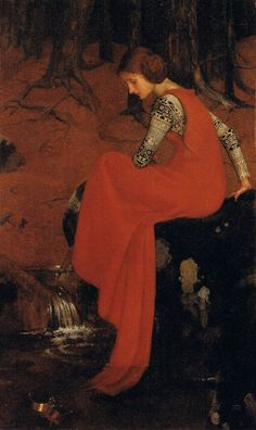 c.1895-8  'Melisande'.. by; Marianne Stokes...... {tempera on canvas}
