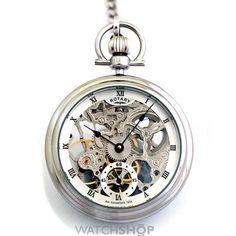 Rotary Pocket Skeleton Mechanical Watch MP00723/21